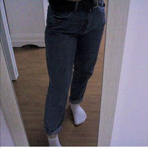 High-rise mom jeans